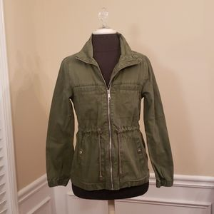 Army Green Trendy Combat style casual Jacket EUC
